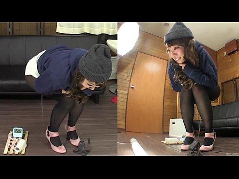 ストッキングで着衣のGALの、YUKAのハメドリお漏らしプレイがえろい☆☆(えろムービー)