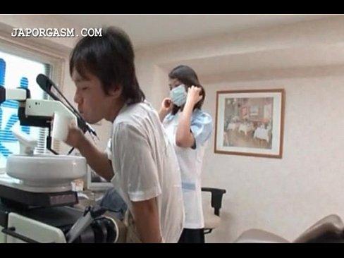 (黒沢那智)Kカップロケット乳歯科助手ナァスが秘密でえろいアルバイトやってます(えろムービー)
