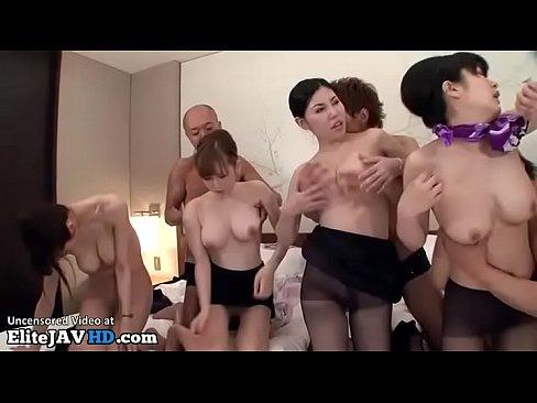 CA達の大乱交セックス – 1【エロ動画】